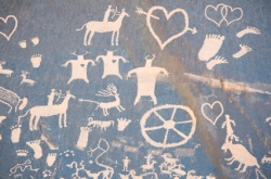simulated prehistoric valentines symbols