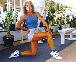 carolyn hansen in gym