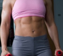 woman with washboard abdominals